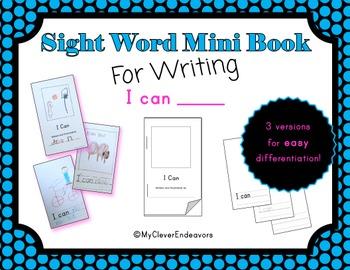 Sight Word Mini Book - I Can