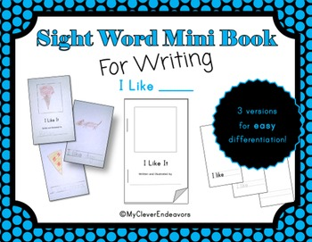 Sight Word Mini Book - I Like