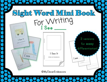 Sight Word Mini Book - I See