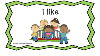 "Sight Word Mini Book ""I like"""