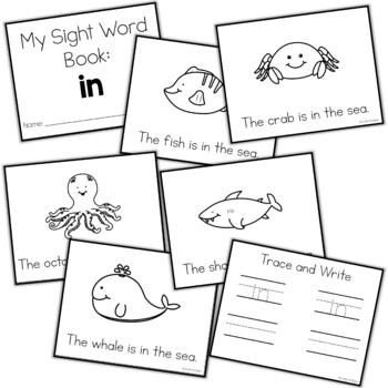 Sight Word Mini Book:  In