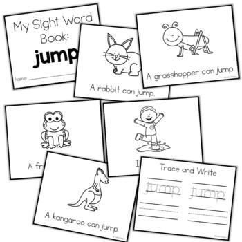 Sight Word Mini Book:  Jump