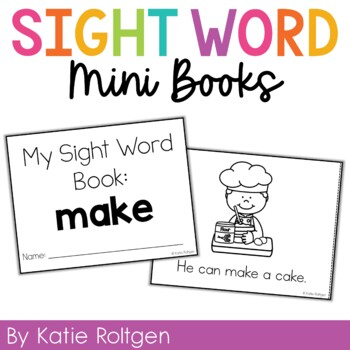 Sight Word Mini Book:  Make