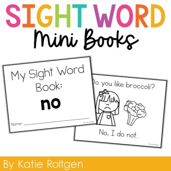 Sight Word Mini Book:  No