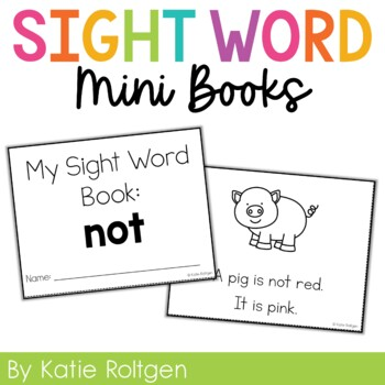 Sight Word Mini Book:  Not
