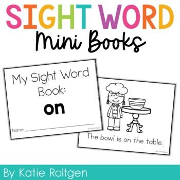 Sight Word Mini Book:  On