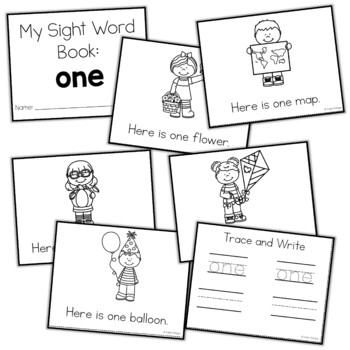 Sight Word Mini Book:  One