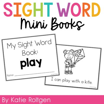 Sight Word Mini Book:  Play