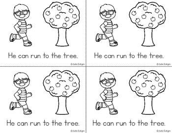 Sight Word Mini Book:  Run
