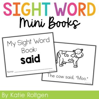 Sight Word Mini Book:  Said