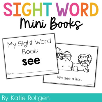 Sight Word Mini Book:  See