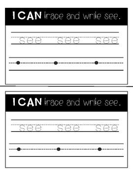 Sight Word Mini Book: See