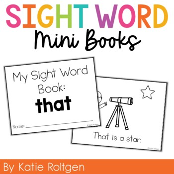 Sight Word Mini Book:  That