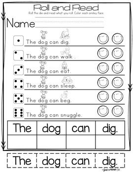Sight Word Mini Book - The, Can