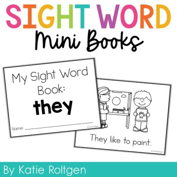 Sight Word Mini Book:  They