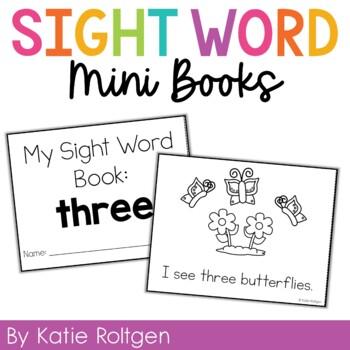 Sight Word Mini Book:  Three