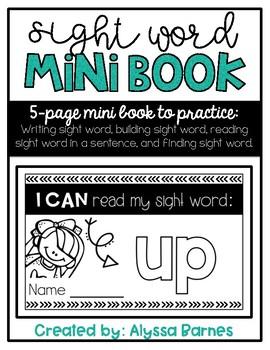 Sight Word Mini Book: Up
