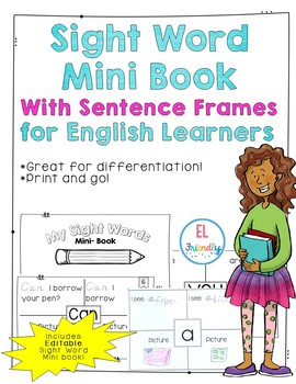 Sight Word Mini Book With Sentence Frames for English Learners