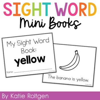 Sight Word Mini Book:  Yellow