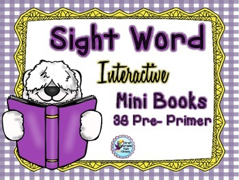 Sight Words Interactive Preprimer Mini Books