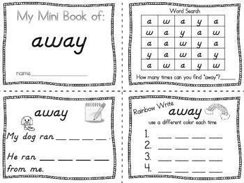 Sight Words Interactive Preprimer Mini Books