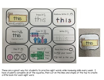 Sight Word Mini Books- Set 2