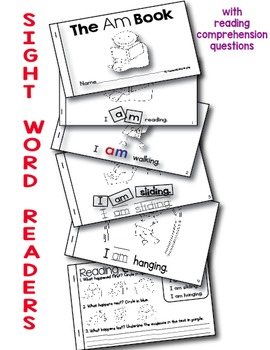 Interactive Sight Word Mini Books Bundle with Reading Comprehension