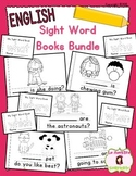 Sight Word Mini Books: BUNDLE of Sets 1-5 (English)