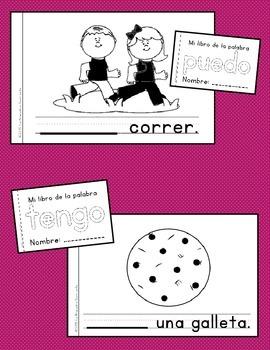 Sight Word Mini Books: BUNDLE of Sets 1-5 (Spanish)