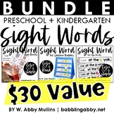 Sight Word Bundle Distance Learning