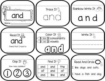 Sight Word Mini Books- Set 1