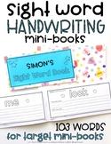 Sight Word Mini-Books {EDITABLE}
