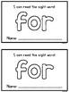 Sight Word Mini Books - FREEBIE