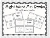 Sight Word Mini Books Kinder, 1st EDITABLE
