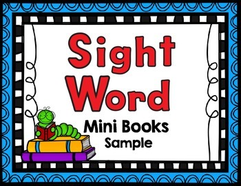 Sight Word Mini Books- Sample