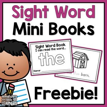 Sight Word Mini Books Sample Freebie