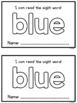 Sight Word Mini Books - Set 1