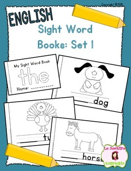 Sight Word Mini Books: Set 1 (English)