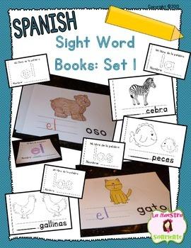 Sight Word Mini Books: Set 1 (Spanish)