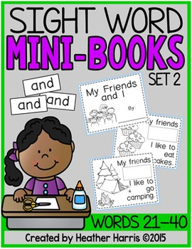 Sight Word Mini Books: Set 2