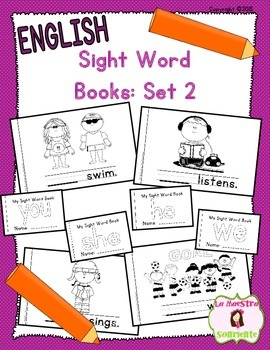 Sight Word Mini Books: Set 2 (English)