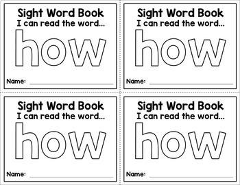 Sight Word Mini Books - Set 3