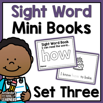 Sight Word Mini Books - Set 3