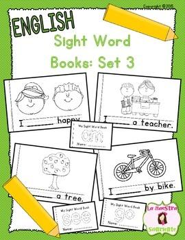 Sight Word Mini Books: Set 3 (English)