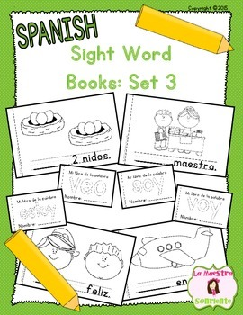 Sight Word Mini Books: Set 3 (Spanish)