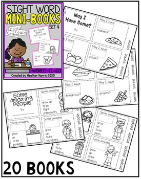 Sight Word Mini Books: Set 4