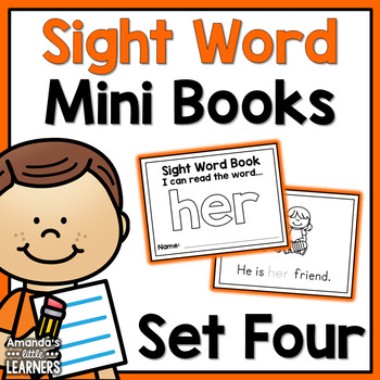 Sight Word Mini Books - Set 4