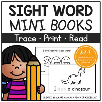 Sight Word Mini Books - Set 4