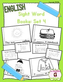 Sight Word Mini Books: Set 4 (English)