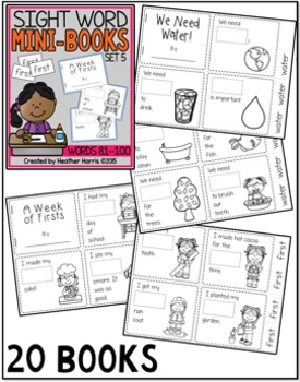 Sight Word Mini Books: Set 5